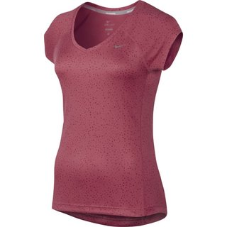 Nike PRINTED MILER SS V-NECK (WOMEN) 630873 685