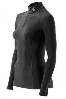 Skins A200 COMPRESSION THERMAL LONG SLEEVE TOP WITH ZIP MOCK NECK (WOMEN) B61033025