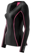 SKINS A200 B61063005 COMPRESSION TOP LONG SLEEVE (WOMEN)