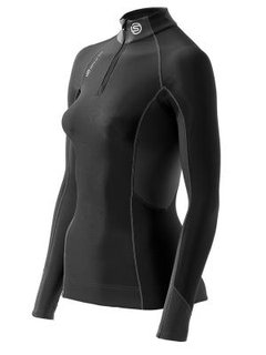 Skins S400 COMPRESSION THERMAL LONG SLEEVE TOP WITH ZIP MOCK NECK (WOMEN) B65060025