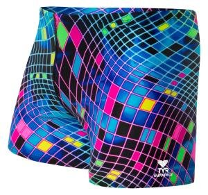 Tyr DISCO INFERNO ALL OVER SQUARE LEG SWIMSUIT ESBDF7A969
