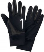 NIKE MEN'S DRI-FIT TAILWIND RUN GLOVES L BLACK/ANTHRACITE N.RG.99.020