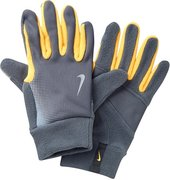NIKE MEN'S TECH THERMAL RUNNING GLOVES L DARK GREY/LASER ORANGE N.RG.57.080