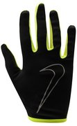 NIKE WOMEN'S RALLY RUN GLOVES L BLACK/VOLT N.RG.A1.023