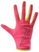 NIKE WOMEN'S RALLY RUN GLOVES L HYPER PINK/VOLT N.RG.A1.677