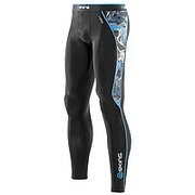 SKINS BIO A200 MENS BLACK/GRAFFITI LONG TIGHTS B60179001
