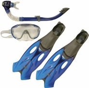 SPEEDO GLIDE MASK  SNORKLE & FIN SET 8-016595052